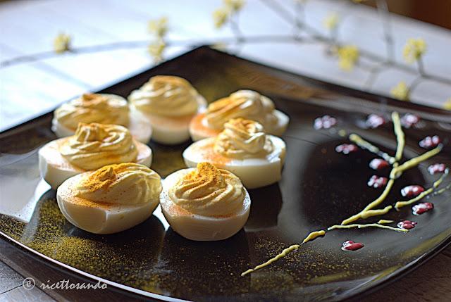 Uova mimosa allo yogurt ricetta light