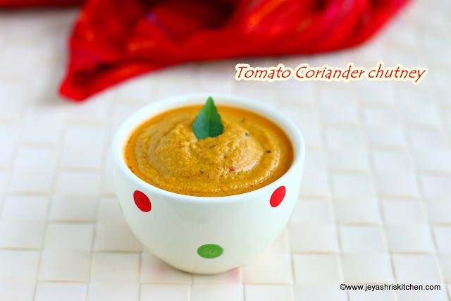 Coriander tomato chutney