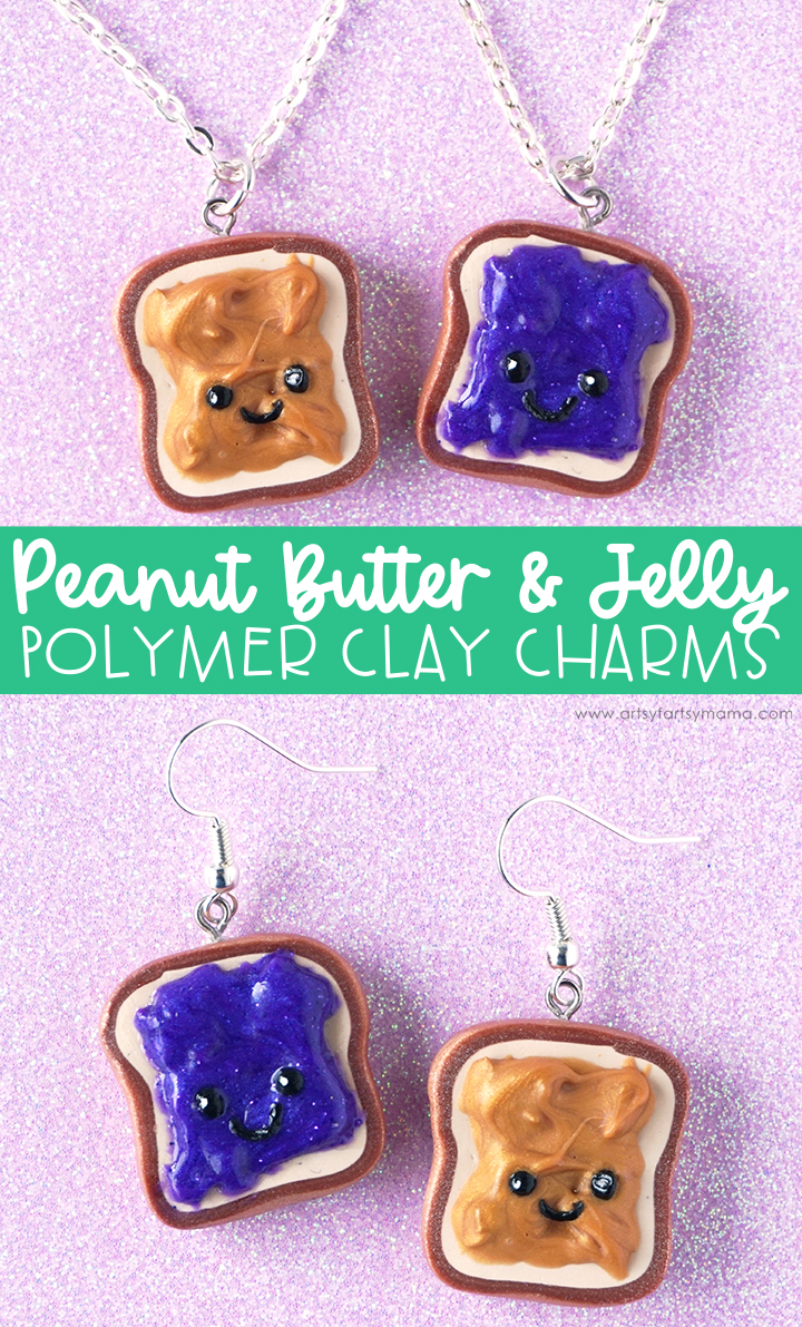 Polymer Clay Peanut Butter & Jelly Charms