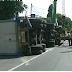 Hindari Pemotor, Truck Tronton Terguling di Mejayan