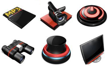 Descargar iconos de color rojo