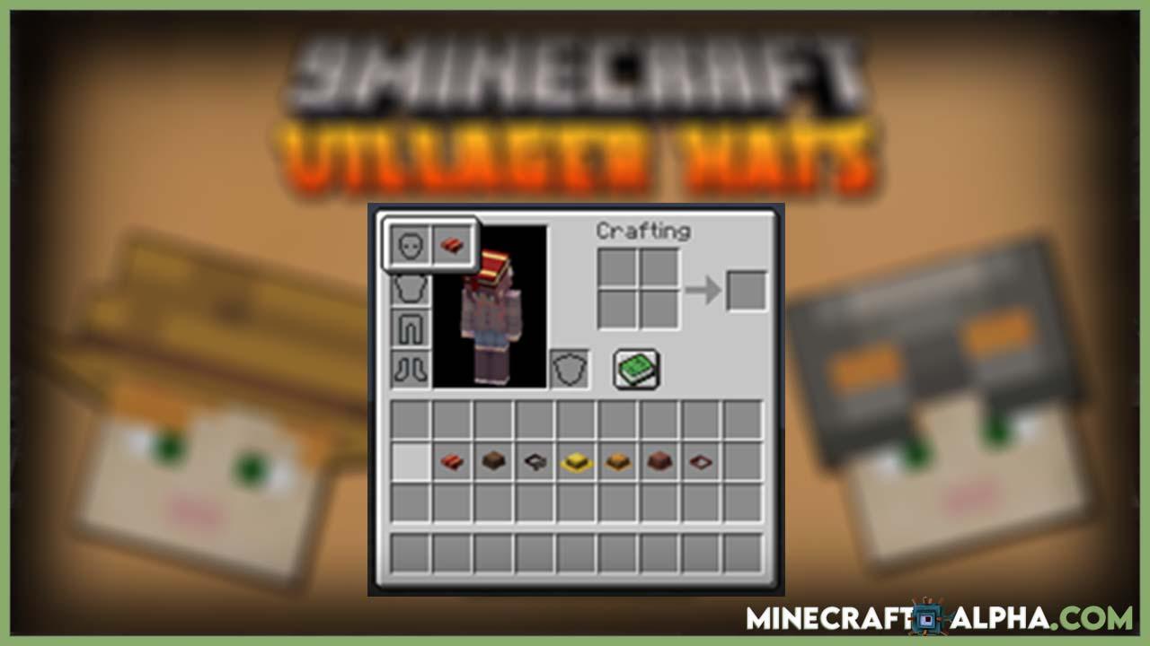 Minecraft 1.17.1 Goosik's Villager Hats Mod (Headgear)