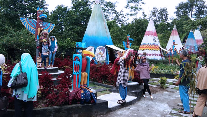 Spot Berfoto di Wisata Kampung Indian Kediri