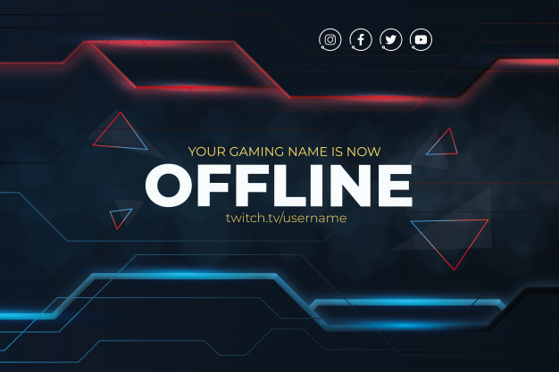Modern twitch background with abstract lines Free Vector