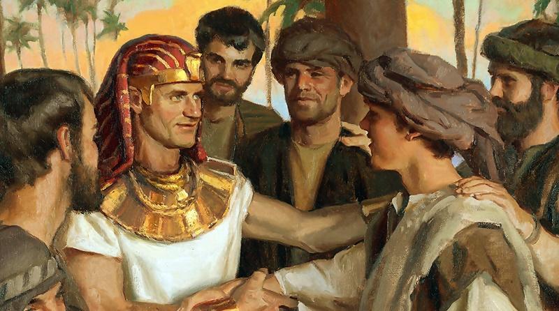 Jo´sé governador do Egito se revela a seus irmãos e pede que lhe tragam seu pai Jacó para o Egito
