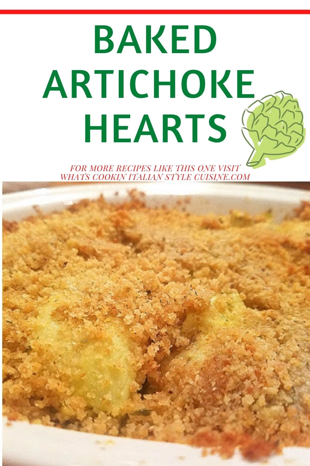 these are baked artichoke hearts that have been topped with the same stuffing in fresh artichokes with garlic and butter breadcrumbs