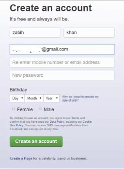 I Want to Sign Up Facebook Account