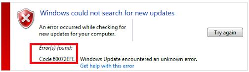 4 Langkah Cara Atasi Pesan Error 80072EFE Saat Update Windows 7
