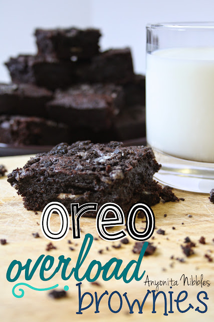 Oreo Overload Brownies with Oreo Butter