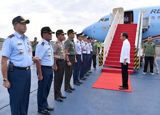 Kunjungan Kerja Ke Lampung, Presiden Resmikan Jalan Tol dan Tinjau Padat Karya Tunai