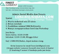 Karir Surabaya di Finest Garment Terbaru November 2019