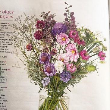 Flores del jardín al jarrón, revista The Garden RHS