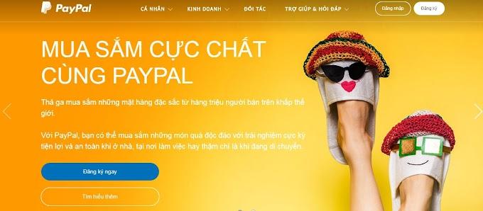 Hướng dẫn đăng ký tài khoản online Paypal