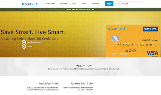 How to Apply SBI Credit Card Online, Federal Bank Credit Card