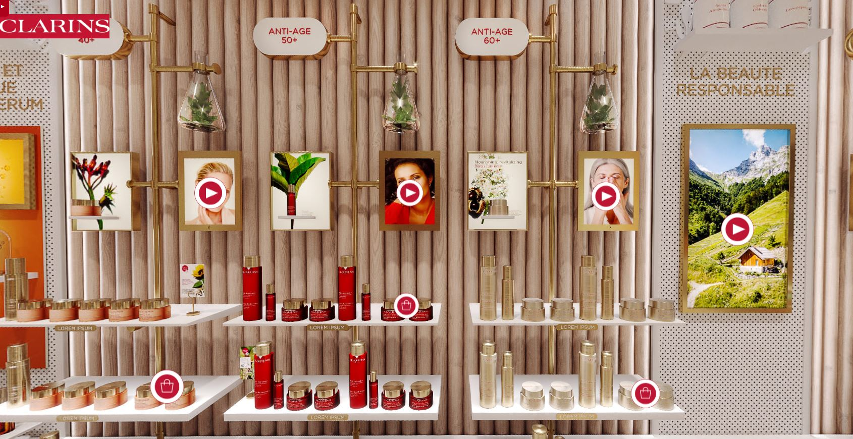 avis boutique virtuelle concept retail clarins