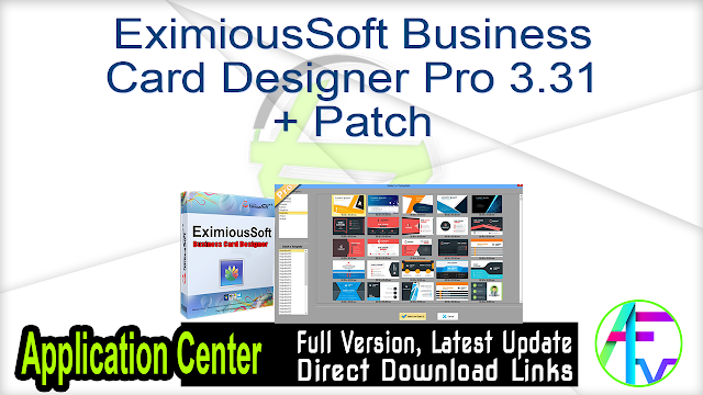 EximiousSoft Business Card Designer Pro 3.33 + Patch