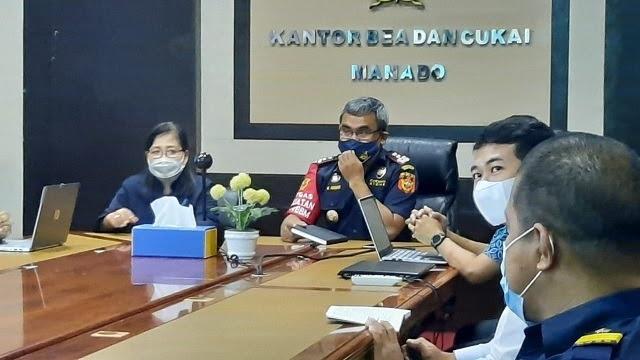 Uji Coba Aplikasi SIP BANTENG BPOM Kunjungi Bea Cukai Manado