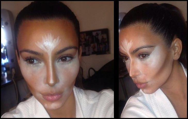Lora makeup contouring et highlighting sur visage ovale - Comment faire le maquillage de kim kardashian ...