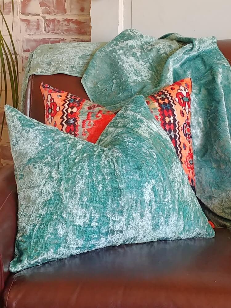 How to Over-Dye Fabric & Repurposed Vintage Velvet Tablecloths