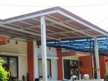joglo dari baja ringan rangka atap dan kanopi jawa tengah 2013