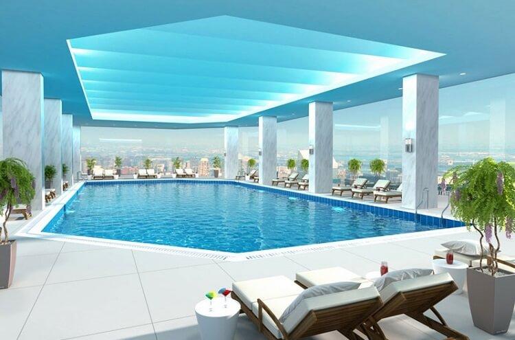 Bể bơi sang trọng tại chung cư Sun Group Quảng An.