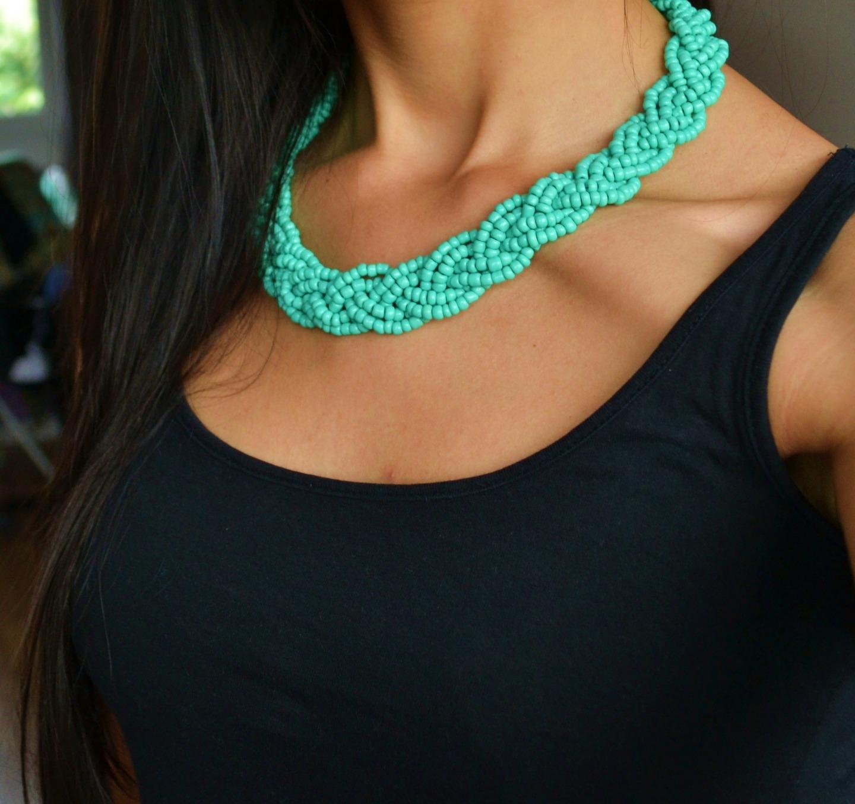 collier perle tendance
