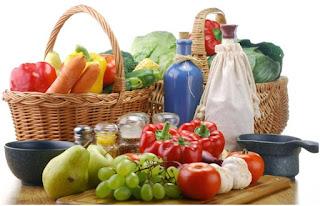 A dieta alcalina e comida