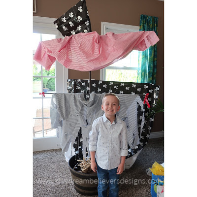 DIY Pirate Ship for Pirate Theme Birthday Party