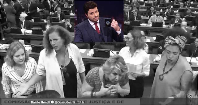Danilo Gentili faz piada com deputadas