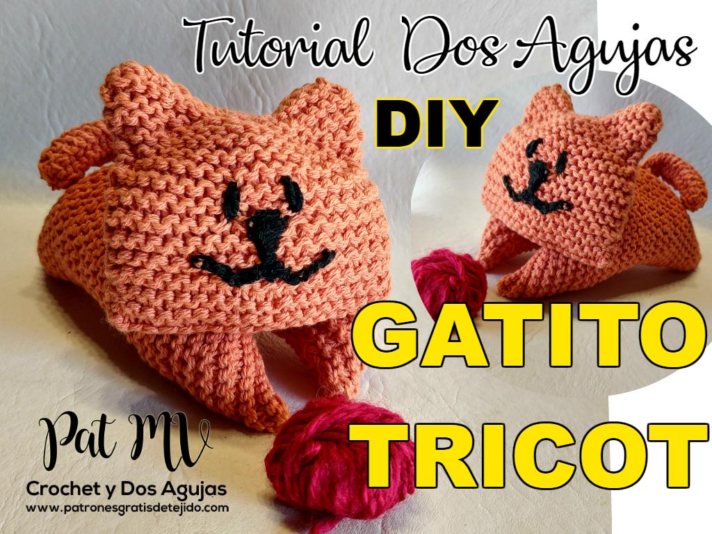 Gatito Tricot Amigurumi Dos Agujas / Tutorial DIY | Crochet y Dos ...