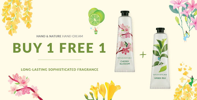Nature Republic Malaysia Hand Cream Buy 1 Free 1 Promo