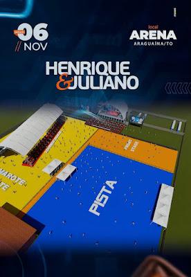mapa show henrique e juliano em araguaina