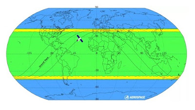 The area that may be where Tiangong-1 fell