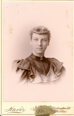 Eliza Frances Fox, of Needham, Massachusetts. (b. 1876). Photo taken in 1894.