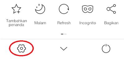 melakukan pemblokiran iklan pada uc browser