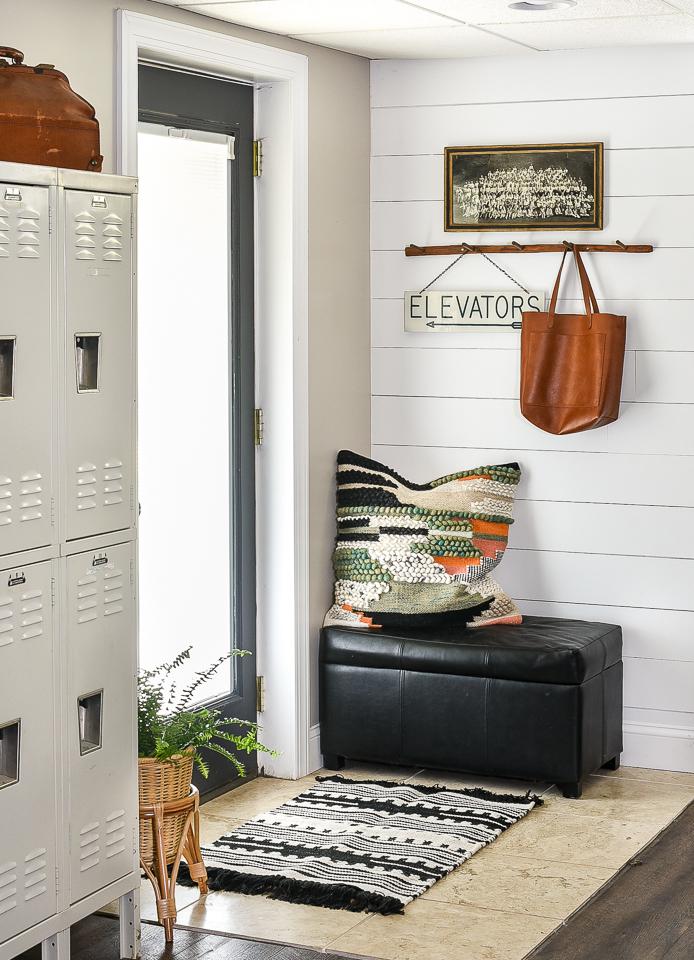 Vintage lockers and decor