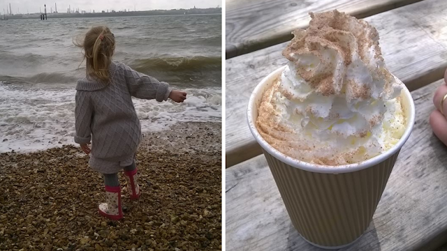 Lily at Netley and hot chocolate