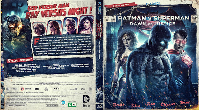 Capa Bluray Batman V Superman Dawn Of Justice (Batman Vs Superman - A Origem da Justiça)