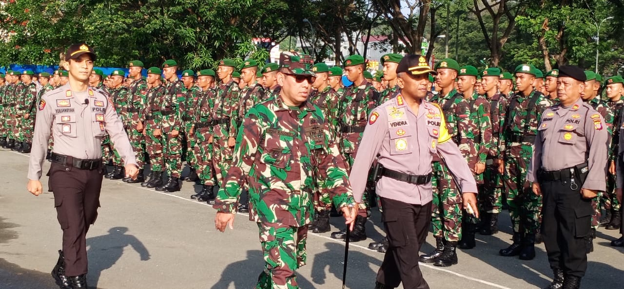 TNI-Polri Di Samarinda Gelar Apel Bersama Persiapan Pengamanan Pelantikan Presiden Terpilih