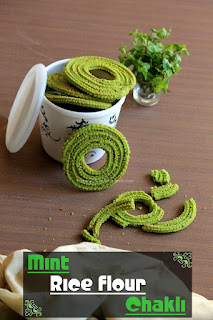 Mint Rice-Flour Chakli