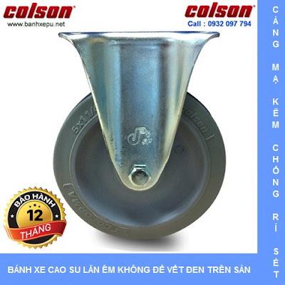Bánh xe đẩy cao su càng cố định 4 inch chịu lực 122kg | S2-4258-TPE www.banhxedayhang.net