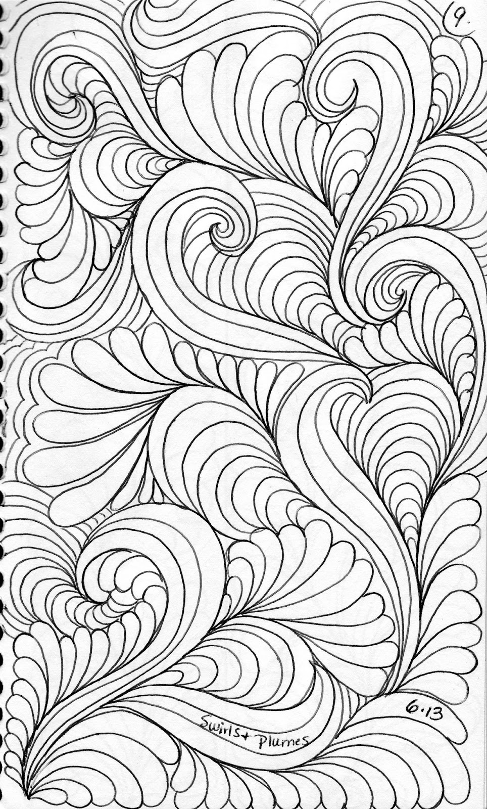 Drawing Lines For Quilting : Luann kessi from my sketch book