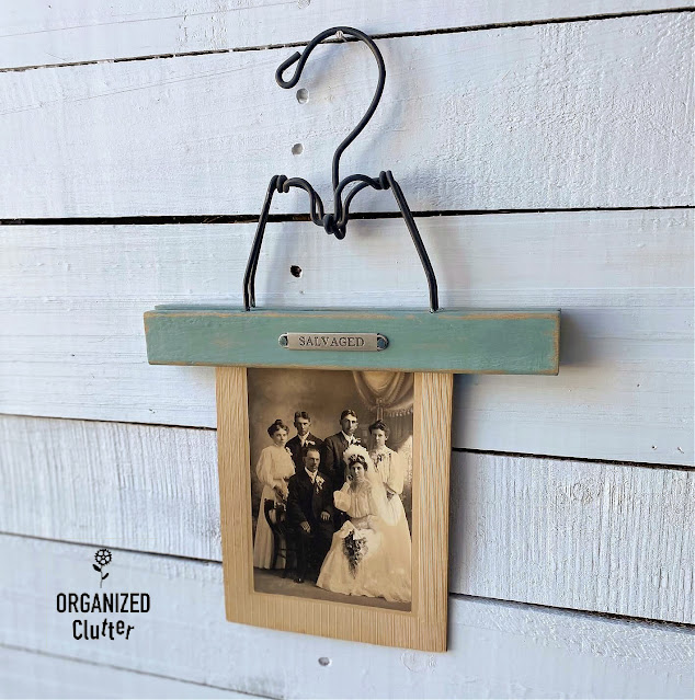 Photo of trouser hanger photo display