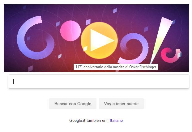 Con il Doodle Oskar Fischinger Google supera se stesso con un Virtual Sinth