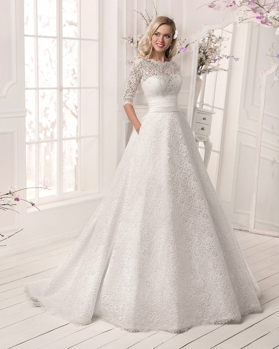 Vintage White Lace Wedding Dresses Women Beaded 2 in 1 Detachable Shirt Wedding Dress With Jacket