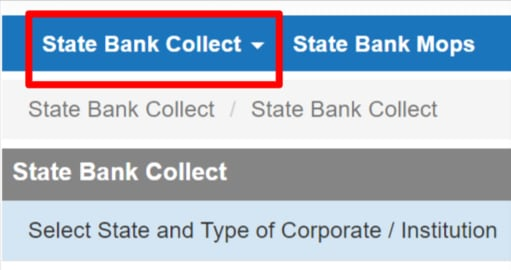 SBI Collect Payment