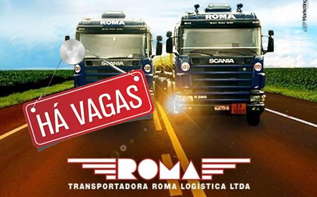 Grupo Roma abre vagas para Motorista Carreteiro