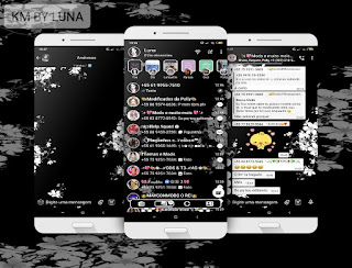 White Flowers Theme For YOWhatsApp & Fouad WhatsApp By Luna