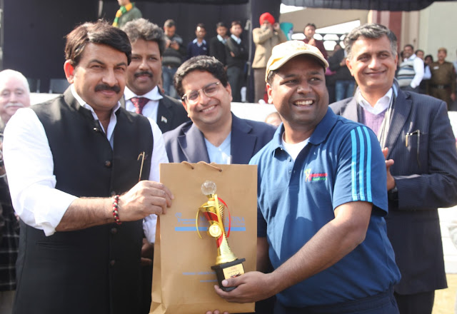 Manoj Tiwari inaugurated the 11th Corporate Cricket Cup in Humanities University
