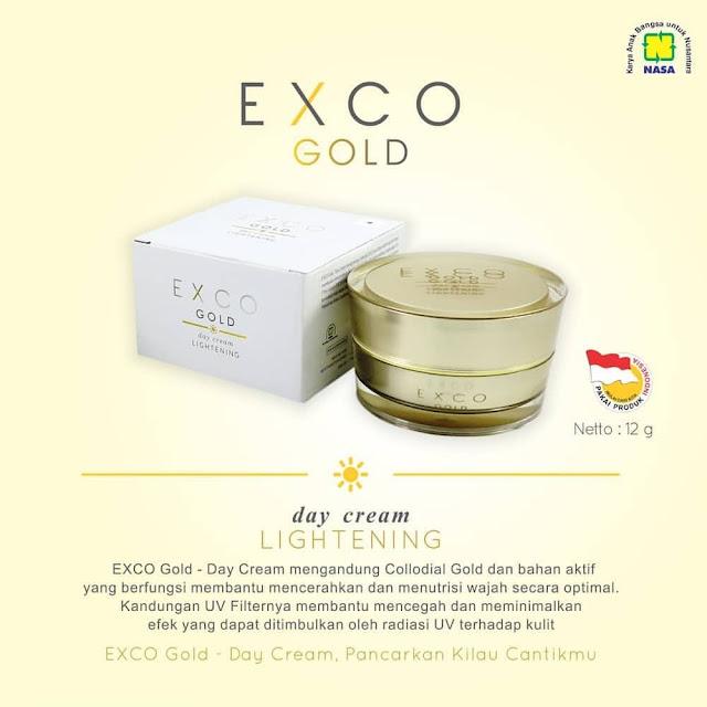 EXCO GOLD DAY CREAM - Cream Siang Untuk Melindungi dan Mencerahkan Wajah